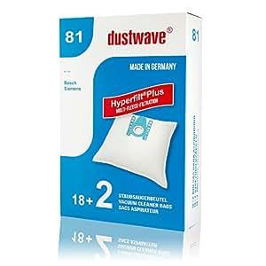 40filtro de polvo bolsa (Super Pack) Adecuado para Siemens–VS z30000» VS z39999–Aspiradora de dustwave® Marca Bolsa para el polvo–Fabricado en Alemania + Incluye Micro de filtro