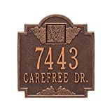 Whitehall Monogram - Standard Wall - Two Line- Antique Copper