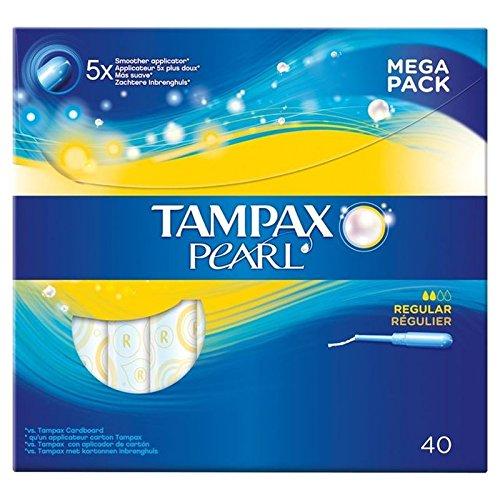 Tampax Pearl Regular Value Pack Applicator Tampons 40 per pack (PACK OF 6)