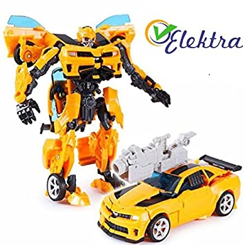 Buy Elektra Robot To Car Converting Action Figure Toy Yellow