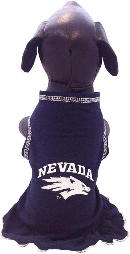 Team Color, Tiny NCAA Nevada Wolf Pack Cheerleader Dog Dress