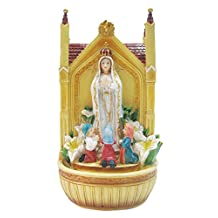 19 Inch Fatima with Children with Water Fountain