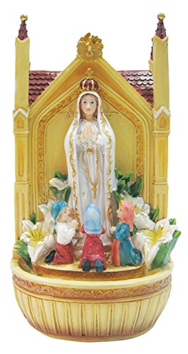 19 Inch Fatima with Children with Water Fountain by Love's Gift