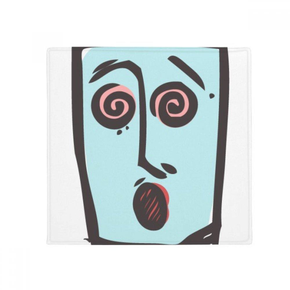DIYthinker Dizzy Abstract Face Sketch Emoji Anti-Slip Floor Pet Mat Square Home Kitchen Door 80Cm Gift