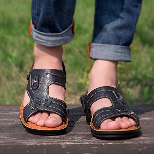 Pantofole Spiaggia Estate Scarpe Black Casual Sandali Moda Uomini da XOq04