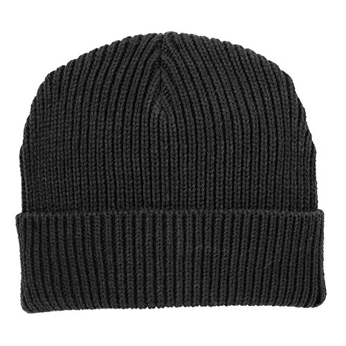 Stylish Winter Ribbed Knit Watch Cap Beanie Hat with Cuff - - Cap Heavyweight Watch