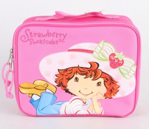 (New Strawberry Shortcake Insulated Lunch Bag Girls Kids Snack Lunch Box Bag)