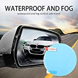 Mobily Car Rearview Mirror Rain and Anti-Fog Film, Anti-Dust and Explosion-Proof Automotive Glass Decoration, 2 PCS (100 * 100mm)
