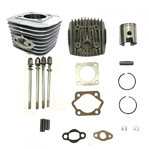 dolphin1986 Cylinder Body with high Hole Piston Set for Long Connecting rod-32mm, 2 Stroke for Gas Motorized Bicycle 66cc/80cc ()