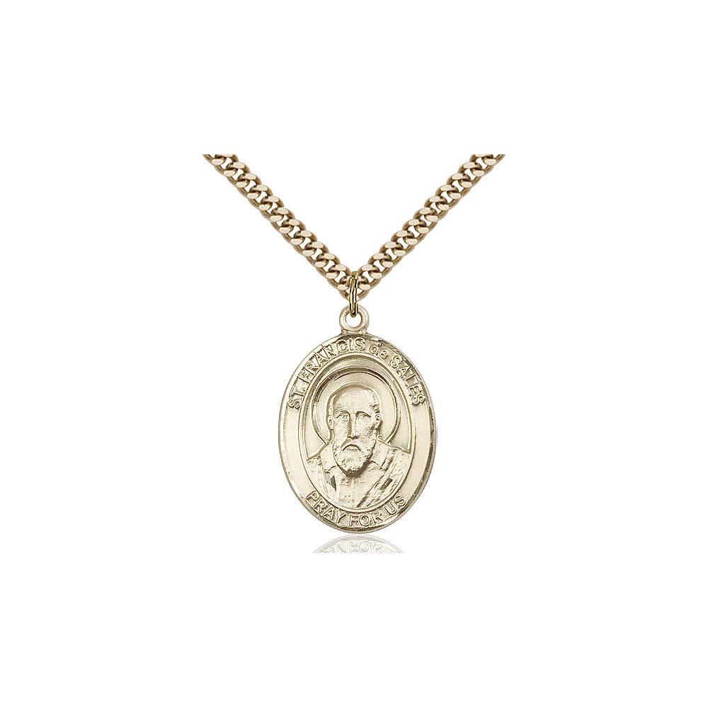 DiamondJewelryNY 14kt Gold Filled St Francis de Sales Pendant