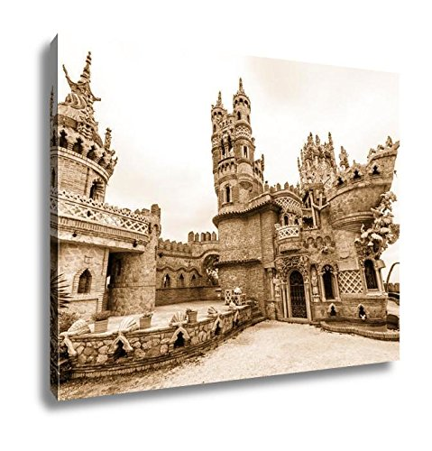 Ashley Canvas Colomares Castle In Benalmadena Town Spain, Wall Art Home Decor, Ready to Hang, Sepia, 16x20, AG6378598 by Ashley Canvas