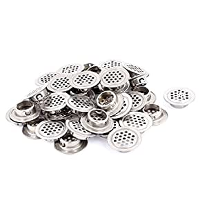 uxcell Mesh Panel Shoes Cabinet Air Vent Louver Cover 19mm Bottom Dia 40pcs