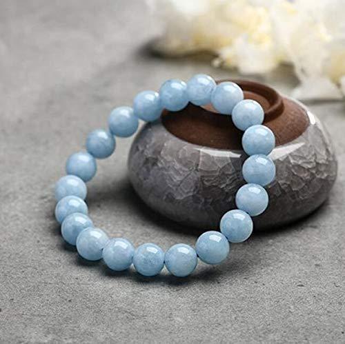 Soothing Bracelet - Natual Aquamarine bracelet - Bring Positive Energy - Peace - Youthfullness Bracelet - Stone Bracelet for Everlasting Joy