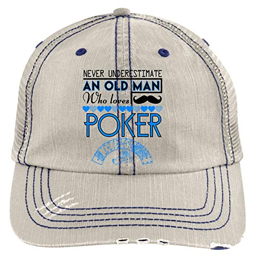 (I'm an Old Man Hat, Who Loves Poker Trucker Cap (Trucker Cap - Putty))
