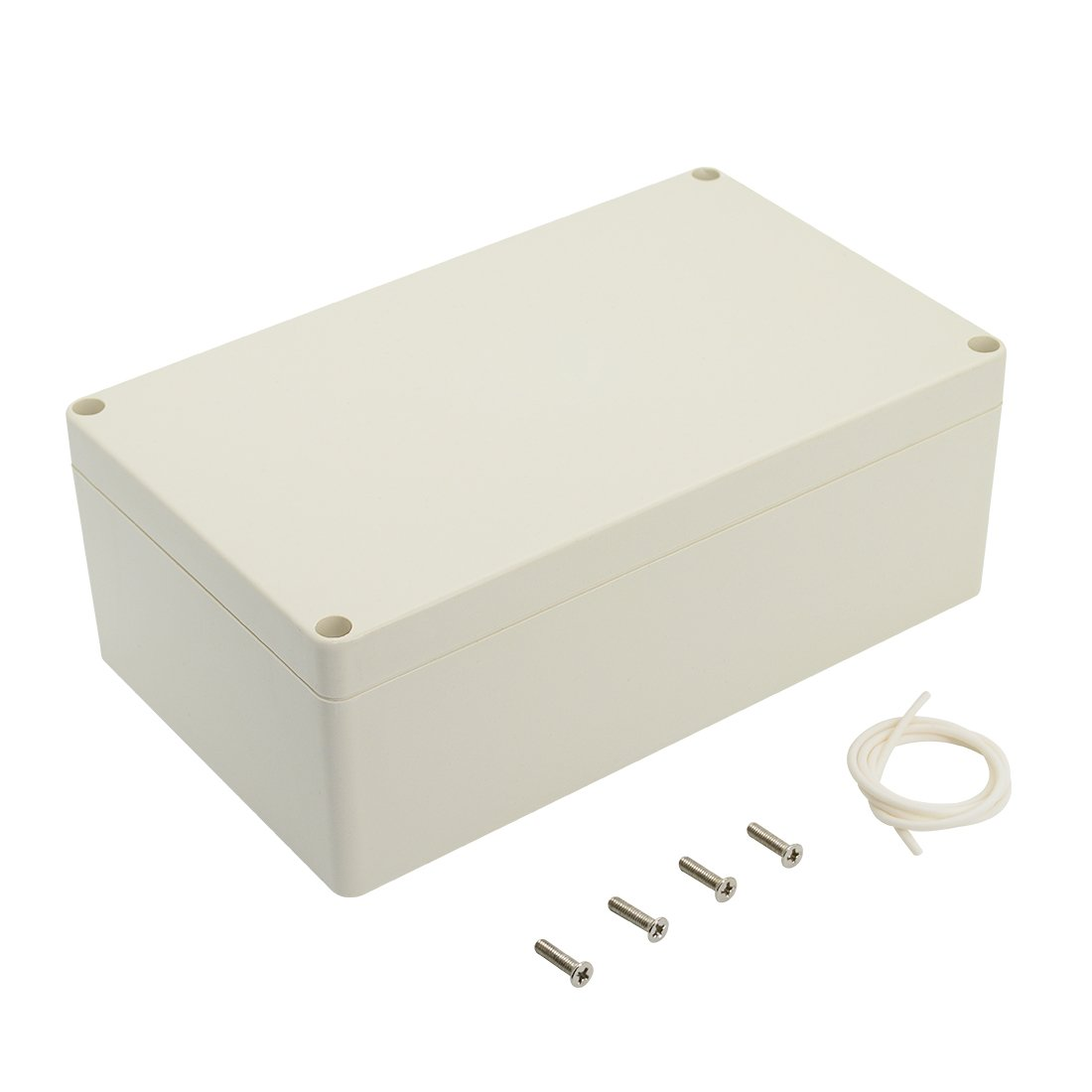 LeMotech ABS Plastic Electrical Project Case Power Junction Box Project Box White 7.87 x 4.72 x 2.95 200 x 120 x 75mm
