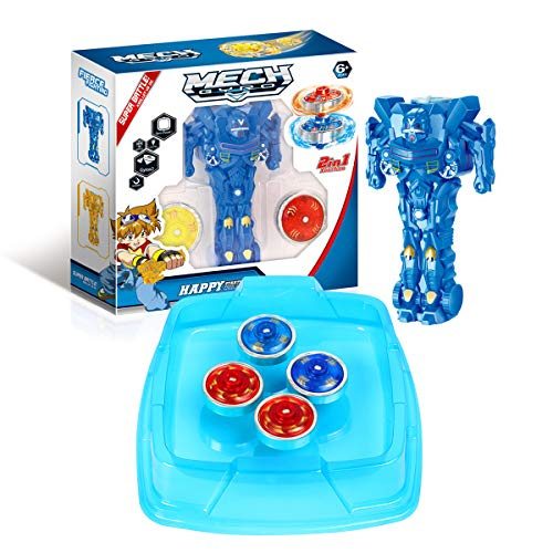 Ingooood Battling Tops Metal Fusion Magnetic Gyro Toys for Kids with 4D Launcher and Arena