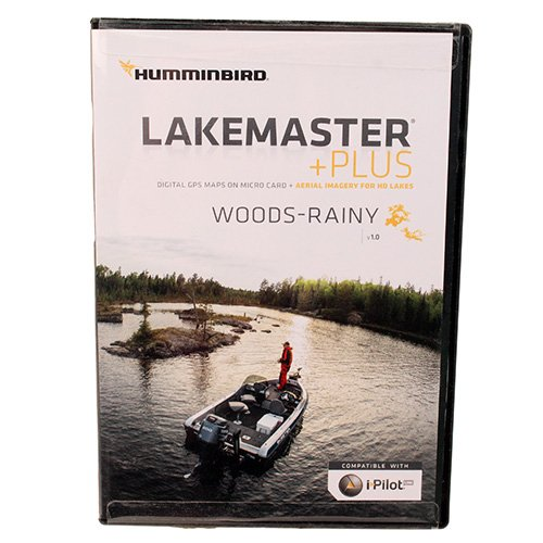 Humminbird Lakemaster Plus Woods-Rainy Edition Digital GPS Lake and Aerial Maps, Micro SD Card, Version 1 by Humminbird