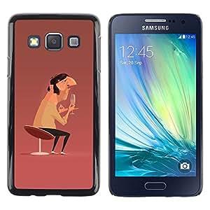 """For Samsung Galaxy A3 Case , Arte Hombre Champagne Cátedra Diseño Pintura"""" - Diseño Patrón Teléfono Caso Cubierta Case Bumper Duro Protección Case Cover Funda"""