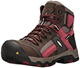 Keen Utility Men's Davenport Mid Waterproof Industrial and Construction Shoe, Cascade Brown/Red Dahlia, 12 D US