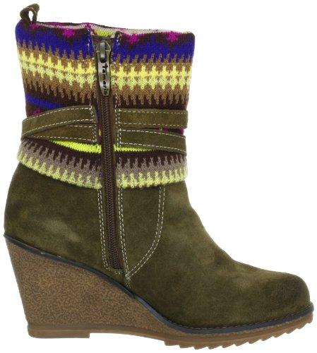 Tamaris Tamaris-TREND 1-1-25412-29 - Botines fashion de cuero para mujer Verde