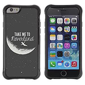 SHIMIN CAO@ Take Me To Neverland Moon Black White Rugged Hybrid Armor Slim Protection Case Cover Shell For iPhone 6 Plus CASE Cover ,iphone 6 5.5 case,iPhone 6 Plus cover ,Cases for iPhone 6 Plus 5.5