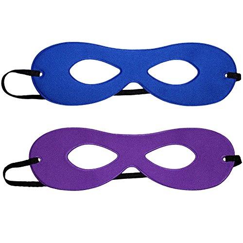 SeasonsTrading Adult Blue/Purple Reversible Superhero Mask]()
