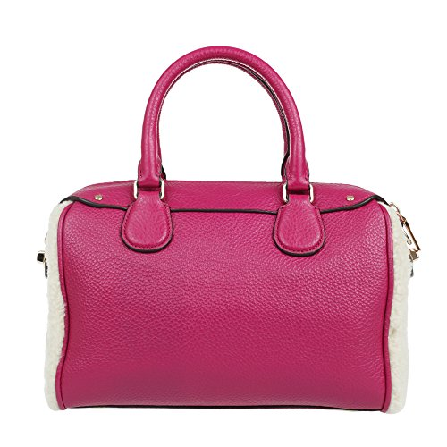 Satchel Shearling Bennet Coach Cranberry Mini qZStWwv