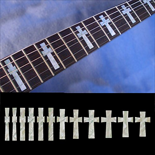 (Fretboard Markers Inlay Sticker Decals for Guitar & Bass - Iommi Cross)