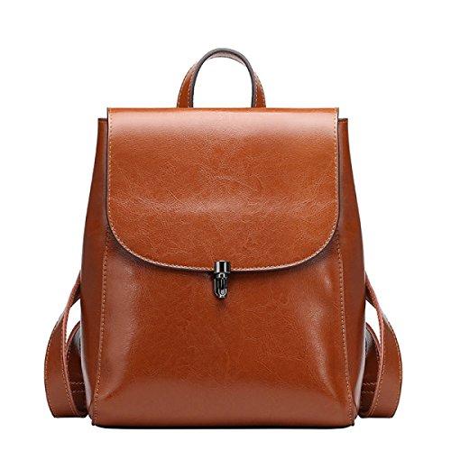 Yy.f Nuevas Bolsas De Hombro Bolsos De Cuero De Alta Calidad De Cuero Bolsas De Moda Mochilas Bolsa Multicolor Brown