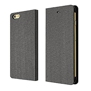 "Incircle - [Squre Metal] Premium Leather Wallet Diary Flip Case for iPhone 6 Plus 5.5"" (SILVER)"
