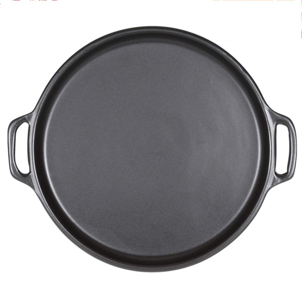 Casserole, pan made of ceramics | steak pizza baking tray | suitable for induction | diameter 29 2.5cm round, uncoated pot heat resistant 800 ° C,322.5CM