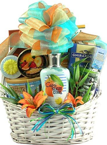 Valentines Day Seaside Scent-sation, Tropical Spa Gift Basket for Women (Seaside Sampler)