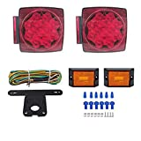12V LED Trailer Light Kit | Utility Bulbs for Easy Assembly | Submersible Tail Lights for: RV, Marine, Boat, Trailer + for All Outdoor terrains | DOT Compliant