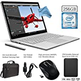 Microsoft Surface Book (256GB SSD, 8GB RAM, Intel 6th Gen Intel i5 + 1TB Portable External Hard Drive USB 3.0 + Surface Carrying Case + Wireless Optical Mouse + Car Charger +DigitalAndMore Cloth