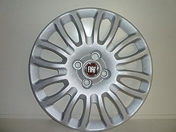 Juego de Tapacubos 4 Tapacubos Diseño de Fiat Grande Punto r 15 Desde 2008: Amazon.es: Coche y moto