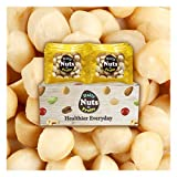 ''Just Macadamias'' (Raw), 2 LB, 32 Packs (1oz), No Additives, Unsalted, On-the-Go, Natural, Premium Nuts, Gourmet Food, Multi-Pack, Nut Packs, Macadamia