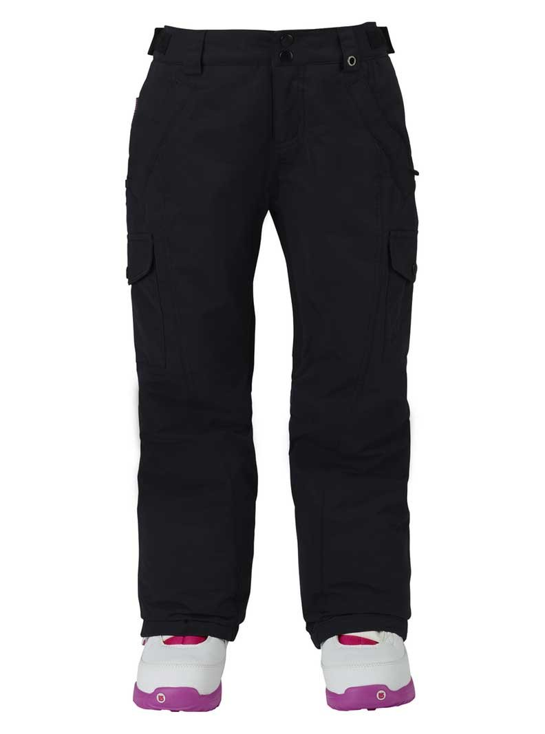 Burton Kids Girls Elite Cargo Snow Pants True Black Size Medium