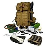 Tactical Backpack Hydration Bladder with Emergency Tools and Survival Gear Hiking Camping Bug Out Bag Kit
