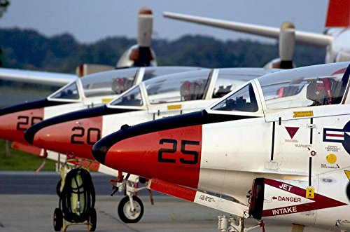 LAMINATED 36x24 inches Poster: Aircraft Military T-2C Buckey