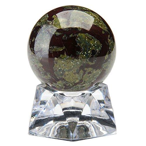 PESOENTH Dragon Blood Jasper Crystal Ball Gemstone Sphere 30mm/1.2