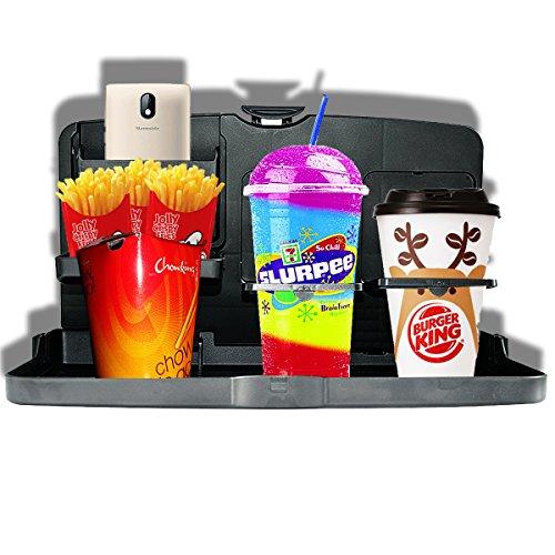 Custom Autos Black Car Food Drink Toys Meal Tray Cup Holder Automotive (Food Holder)