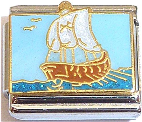(Pirate Ship Sails Italian Charm)