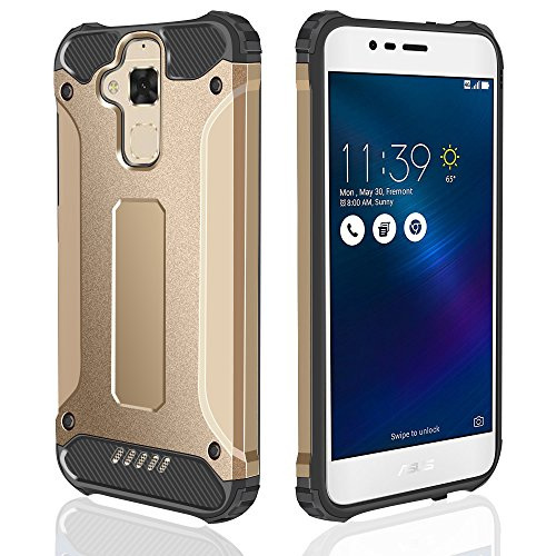 Slim Armor Case For Asus Zenfone 3 Max (Gold) - 1