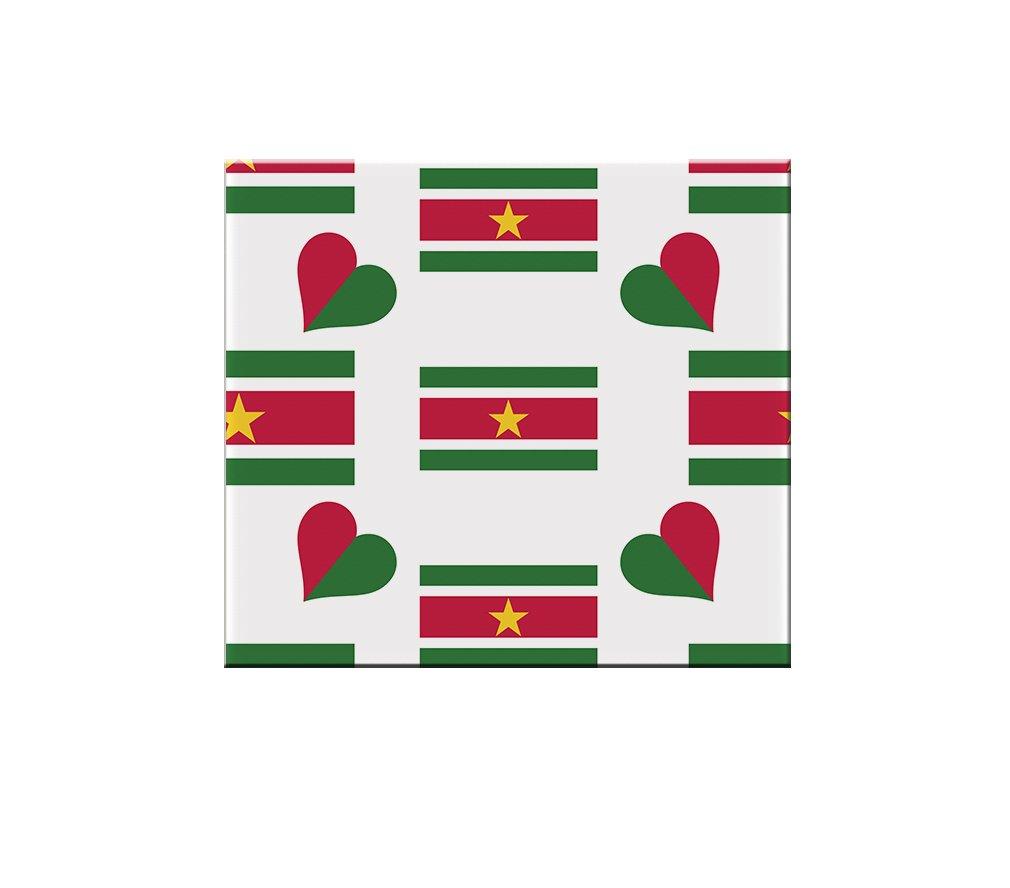 delicate Suriname Country Flag Heart Ceramic Tile Backsplash Accent Mural