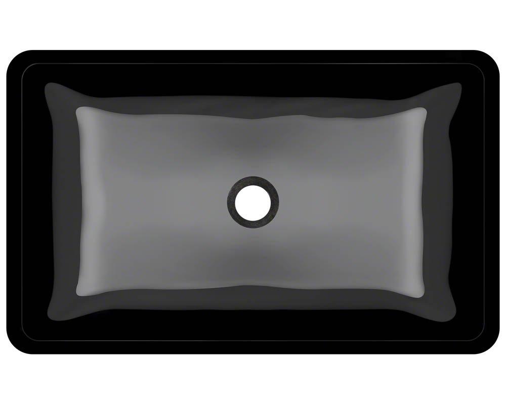 640 Black Coloured Glass Vessel Bathroom Sink