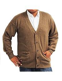 CELITAS DESIGN Cardigan Alpaca and Blend V neck Buttons and pockets olive green