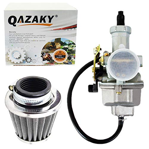 QAZAKY Air filter + PZ27 Carburetor Carb Cable Choke 27mm for 4-stroke CG 125cc 150cc 200cc 250cc ATV Go Kart Dirt Bike Taotao Sunl Buyang Coolsport Lifan Kazuma Zongshen Chinese