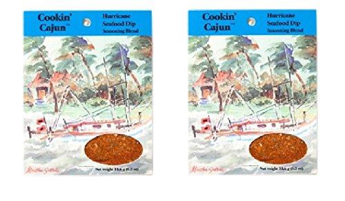 Cookin' Cajun Hurricane Seafood Dip Seasoning Blend, 1.2 Ounce Packet (Pack of 2)