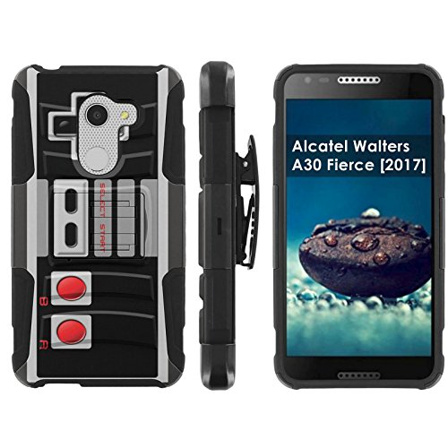 [Mobiflare] Alcatel REVVL A30 Plus 5.5-inch Screen Armor Case [Black/Black] Blitz Dual-Layer Phone Case with Holster – [NES Video Game Controller] Review
