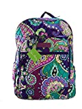Vera Bradley Campus Backpack (Heather with Purple Interiors)